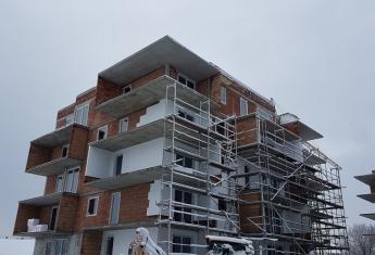 Rozpoczęto wykonywanie ociepleń budynków
