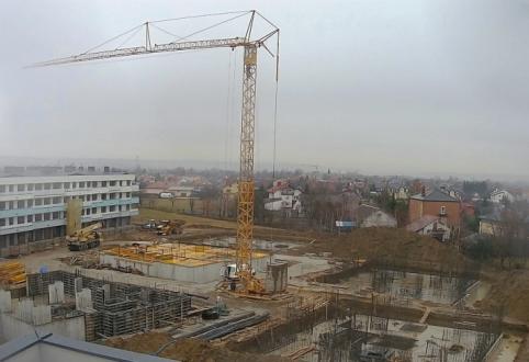 Dźwig już na budowie nowej inwestycji Szklanych Tarasów