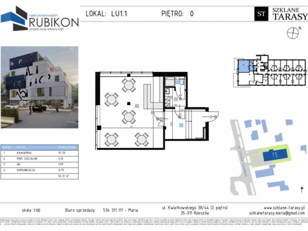 RUBIKON LU1.1 - lokal usługowy RUBIKON