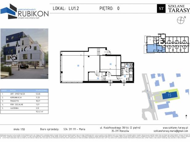 RUBIKON LU1.2 - lokal usługowy RUBIKON
