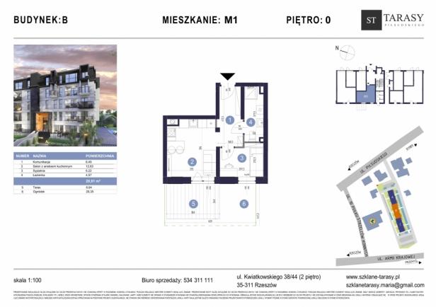 TARASY PIŁSUDSKIEGO M1 - mieszkanie 2 pokojowe Budynek B
