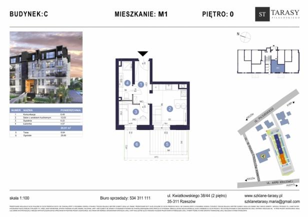 TARASY PIŁSUDSKIEGO M1 - mieszkanie 2 pokojowe Budynek C