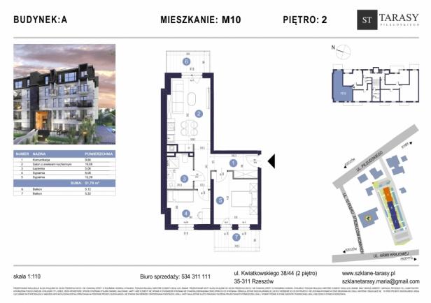 TARASY PIŁSUDSKIEGO M10 - mieszkanie 3 pokojowe Budynek A