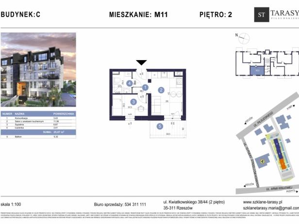 TARASY PIŁSUDSKIEGO M11 - mieszkanie 2 pokojowe Budynek C