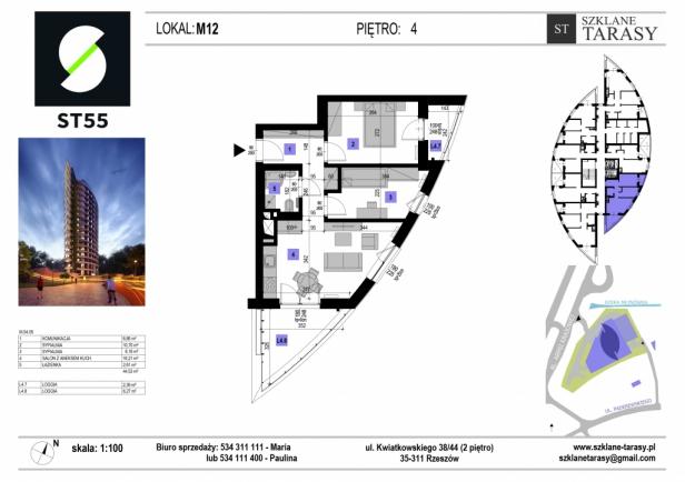 ST 55 - Armii Krajowej M12 - mieszkanie 3 pokojowe ST 55