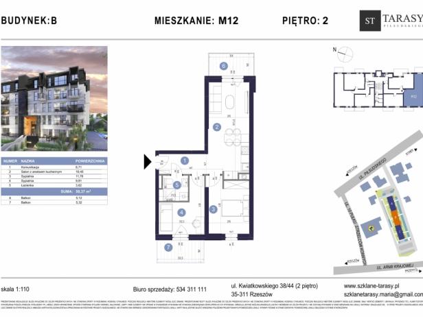 TARASY PIŁSUDSKIEGO M12 - mieszkanie 3 pokojowe Budynek B