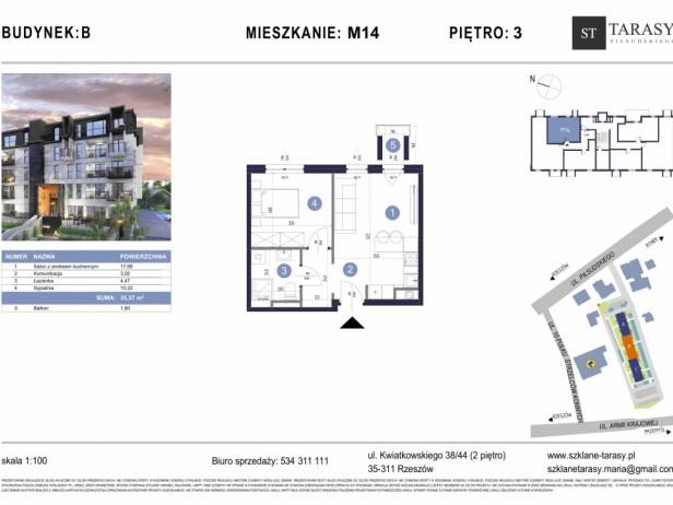 TARASY PIŁSUDSKIEGO M14 - mieszkanie 2 pokojowe Budynek B
