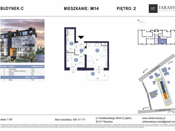 TARASY PIŁSUDSKIEGO M14 - mieszkanie 2 pokojowe Budynek C