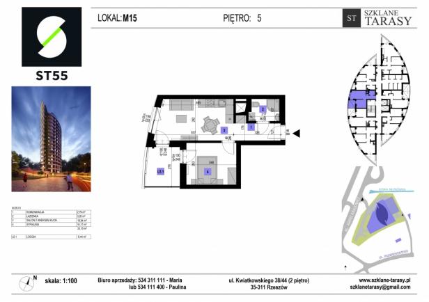 ST 55 - Armii Krajowej M15 - mieszkanie 2 pokojowe ST 55