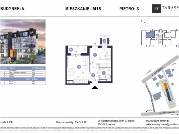 TARASY PIŁSUDSKIEGO M15 - mieszkanie 2 pokojowe Budynek A