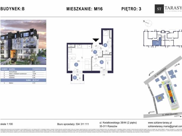 TARASY PIŁSUDSKIEGO M16 - mieszkanie 2 pokojowe Budynek B