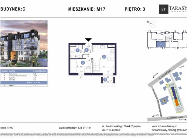 TARASY PIŁSUDSKIEGO M17 - mieszkanie 2 pokojowe Budynek C