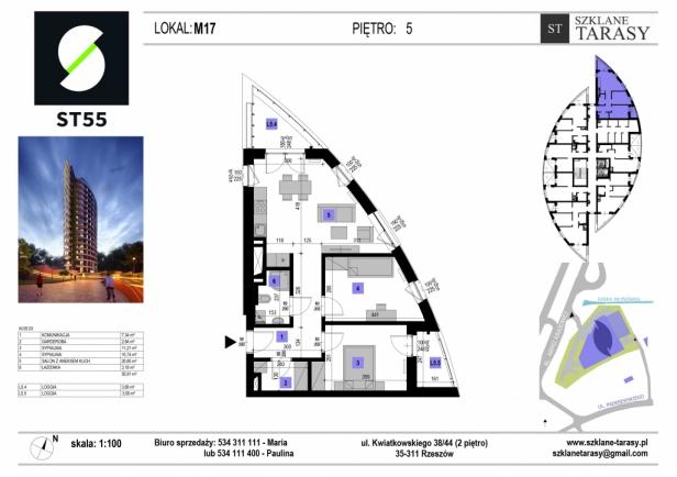 ST 55 - Armii Krajowej M17 - mieszkanie 3 pokojowe ST 55