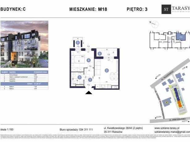 TARASY PIŁSUDSKIEGO M18 - mieszkanie 2 pokojowe Budynek C