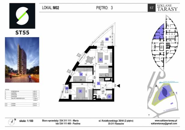 ST 55 - Armii Krajowej M2 - mieszkanie 3 pokojowe ST 55