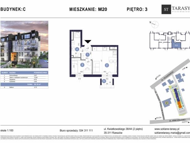 TARASY PIŁSUDSKIEGO M20 - mieszkanie 2 pokojowe Budynek C