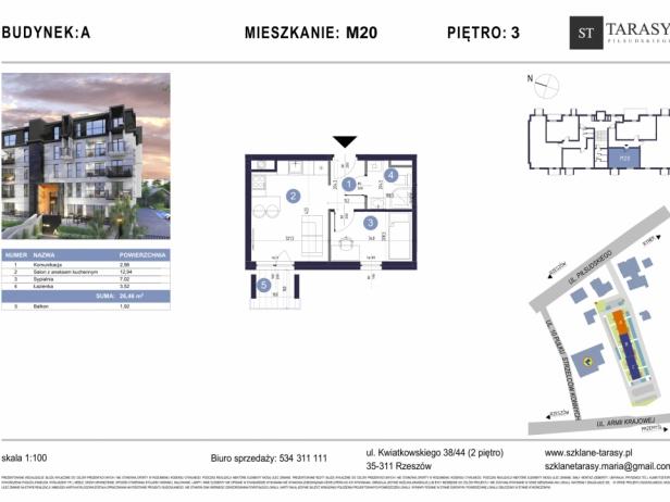 TARASY PIŁSUDSKIEGO M20 - mieszkanie 2 pokojowe Budynek A
