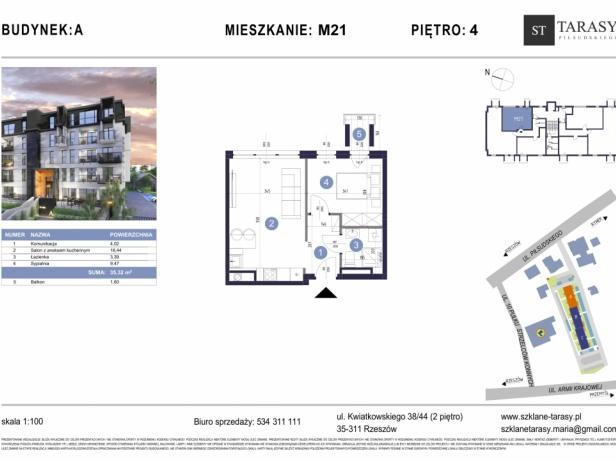 TARASY PIŁSUDSKIEGO M21 - mieszkanie 2 pokojowe Budynek A
