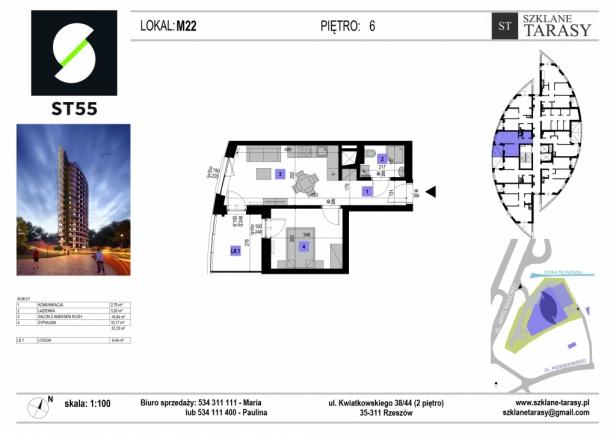 ST 55 - Armii Krajowej M22 - mieszkanie 2 pokojowe ST 55