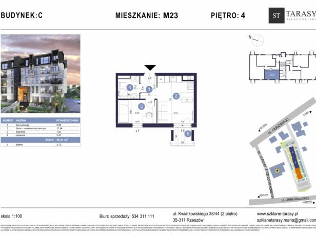 TARASY PIŁSUDSKIEGO M23 - mieszkanie 2 pokojowe Budynek C