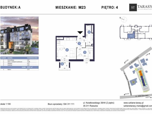 TARASY PIŁSUDSKIEGO M23 - mieszkanie 2 pokojowe Budynek A