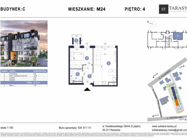 TARASY PIŁSUDSKIEGO M24 - mieszkanie 2 pokojowe Budynek C