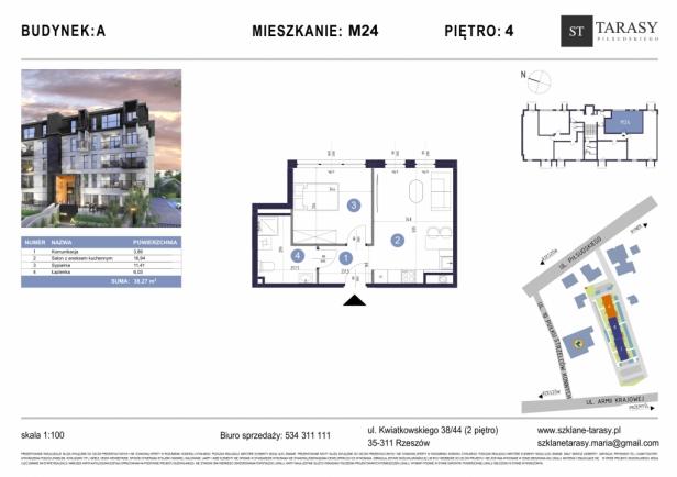TARASY PIŁSUDSKIEGO M24 - mieszkanie 2 pokojowe Budynek A