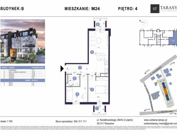 TARASY PIŁSUDSKIEGO M24 - mieszkanie 3 pokojowe Budynek B