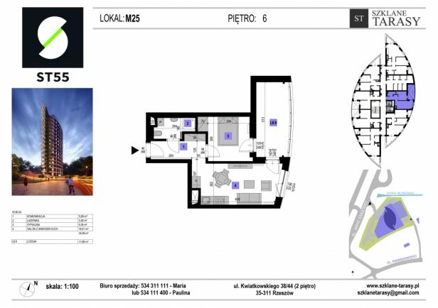 ST 55 - Armii Krajowej M25 - mieszkanie 2 pokojowe ST 55