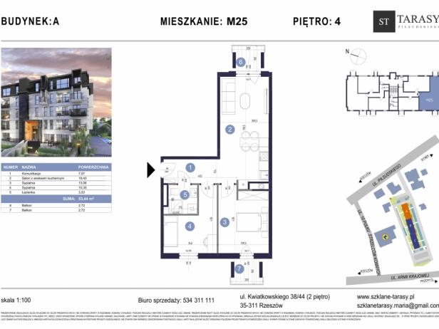 TARASY PIŁSUDSKIEGO M25 - mieszkanie 3 pokojowe Budynek A