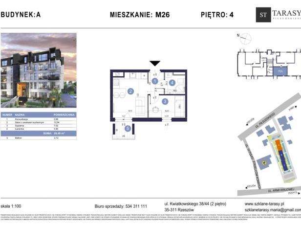 TARASY PIŁSUDSKIEGO M26 - mieszkanie 2 pokojowe Budynek A