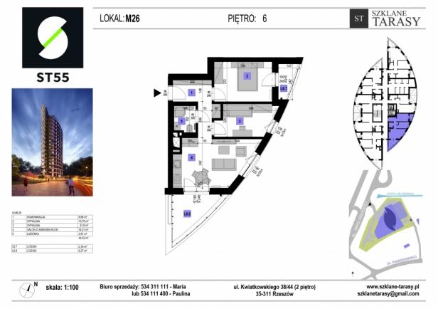 ST 55 - Armii Krajowej M26 - mieszkanie 3 pokojowe ST 55
