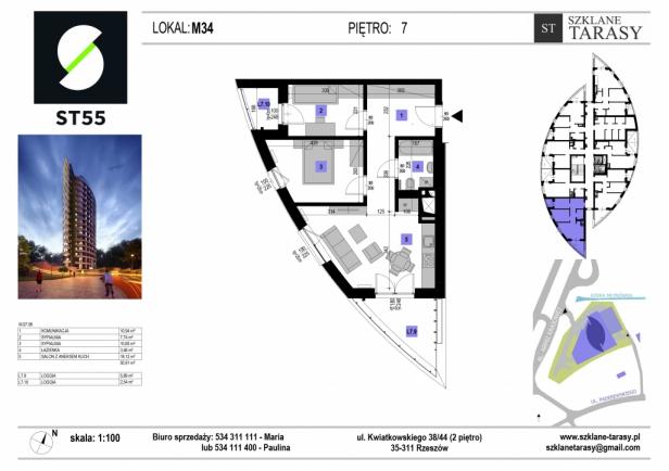 ST 55 - Armii Krajowej M34 - mieszkanie 3 pokojowe ST 55