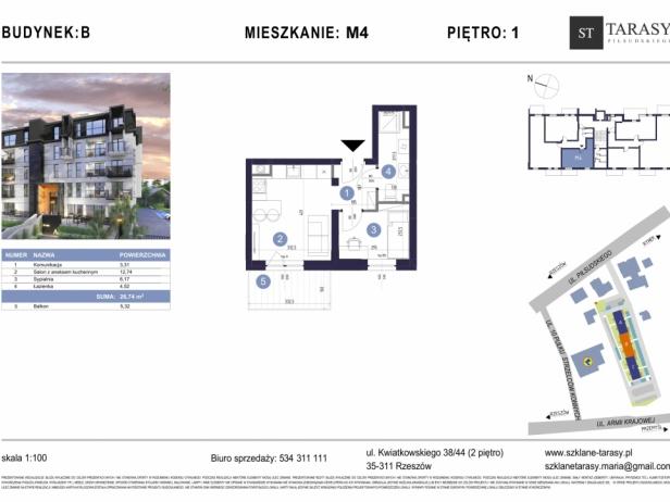 TARASY PIŁSUDSKIEGO M4 - mieszkanie 2 pokojowe Budynek B