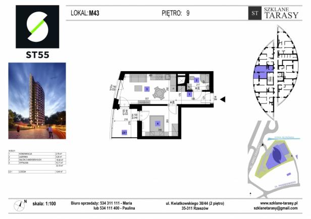 ST 55 - Armii Krajowej M43 - mieszkanie 2 pokojowe ST 55