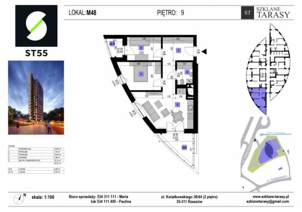 ST 55 - Armii Krajowej M48 - mieszkanie 3 pokojowe ST 55