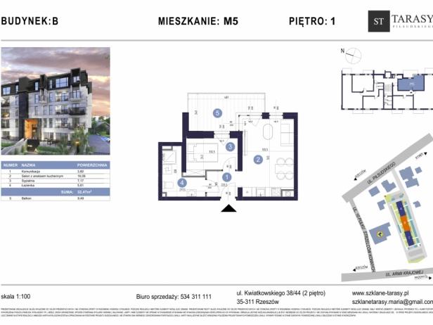 TARASY PIŁSUDSKIEGO M5 - mieszkanie 2 pokojowe Budynek B