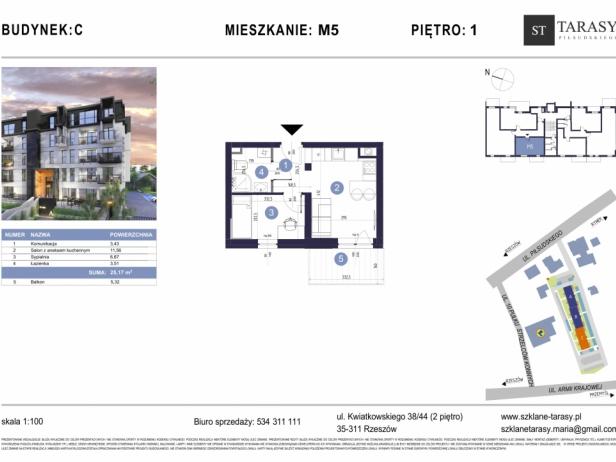 TARASY PIŁSUDSKIEGO M5 - mieszkanie 2 pokojowe Budynek C