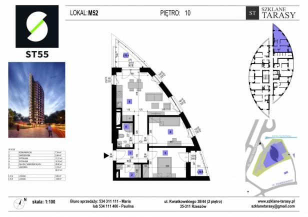 ST 55 - Armii Krajowej M52 - mieszkanie 3 pokojowe ST 55