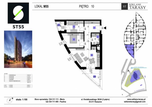 ST 55 - Armii Krajowej M55 - mieszkanie 3 pokojowe ST 55