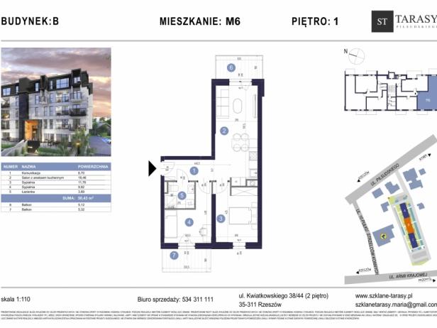 TARASY PIŁSUDSKIEGO M6 - mieszkanie 3 pokojowe Budynek B