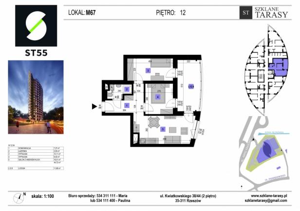 ST 55 - Armii Krajowej M67 - mieszkanie 3 pokojowe ST 55
