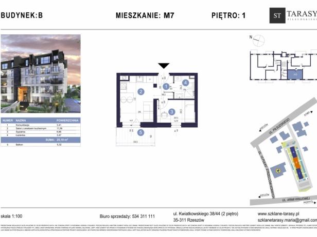 TARASY PIŁSUDSKIEGO M7 - mieszkanie 2 pokojowe Budynek B