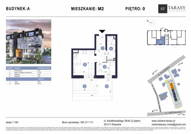 TARASY PIŁSUDSKIEGO M2 - mieszkanie 2 pokojowe Budynek A