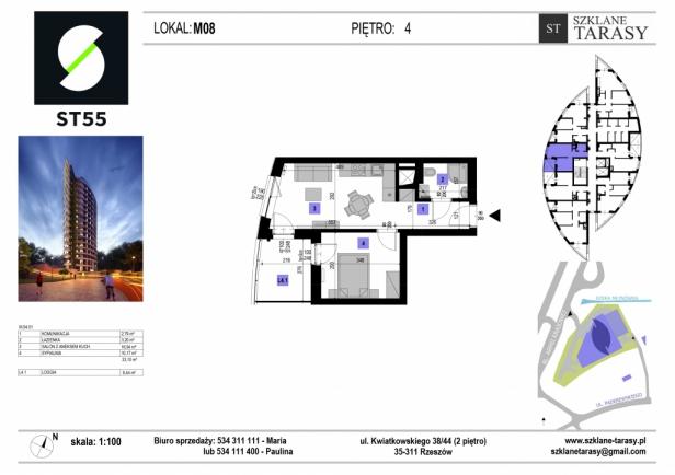 ST 55 - Armii Krajowej M8 - mieszkanie 2 pokojowe ST 55