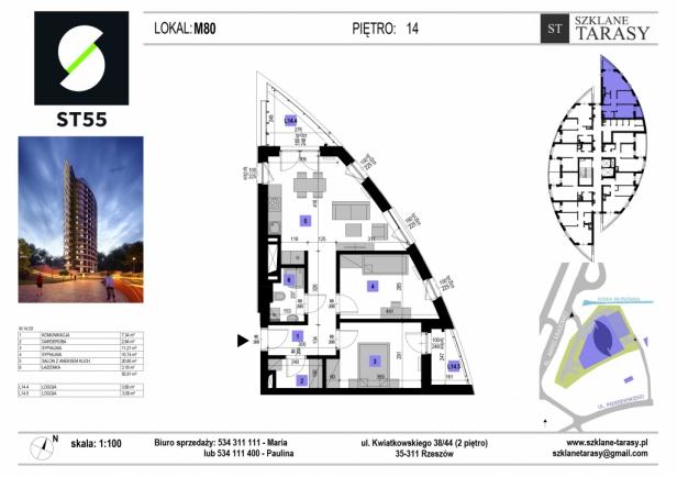ST 55 - Armii Krajowej M80 - mieszkanie 3 pokojowe ST 55