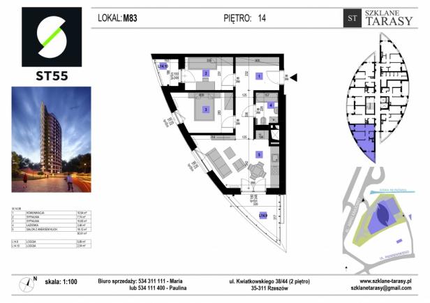 ST 55 - Armii Krajowej M83 - mieszkanie 3 pokojowe ST 55