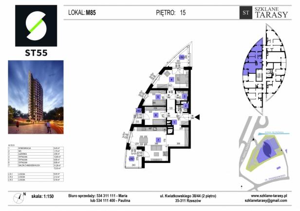 ST 55 - Armii Krajowej M85 - mieszkanie 4 pokojowe ST 55