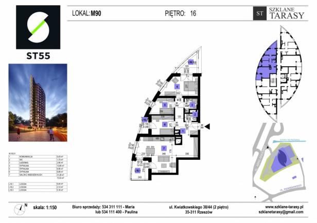 ST 55 - Armii Krajowej M90 - mieszkanie 4 pokojowe ST 55