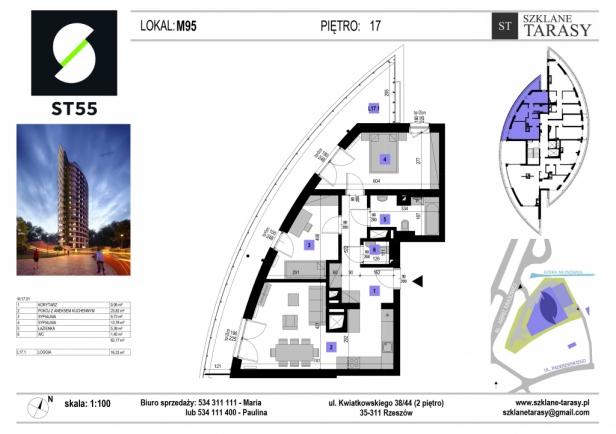 ST 55 - Armii Krajowej M95 - mieszkanie 3 pokojowe ST 55
